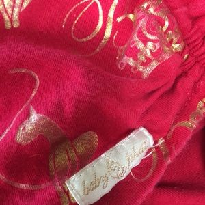 Baby Phat Tops - Baby Phat Red Tube Top Drawstring sides gold logo